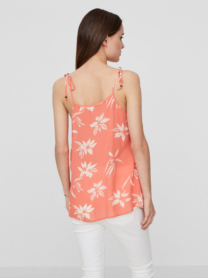 FLOWER SLEEVELESS TOP, Georgia Peach, large