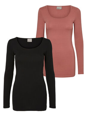 2-PACK CASUAL LONG SLEEVED BLOUSE