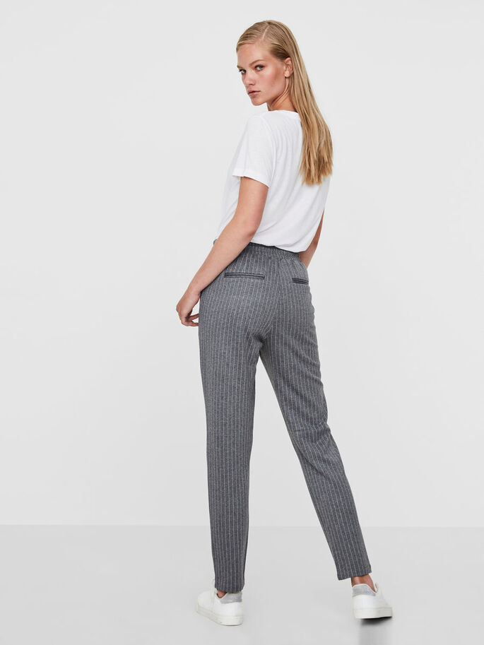 RORY PINSTRIPED TROUSERS, Light Grey Melange, large