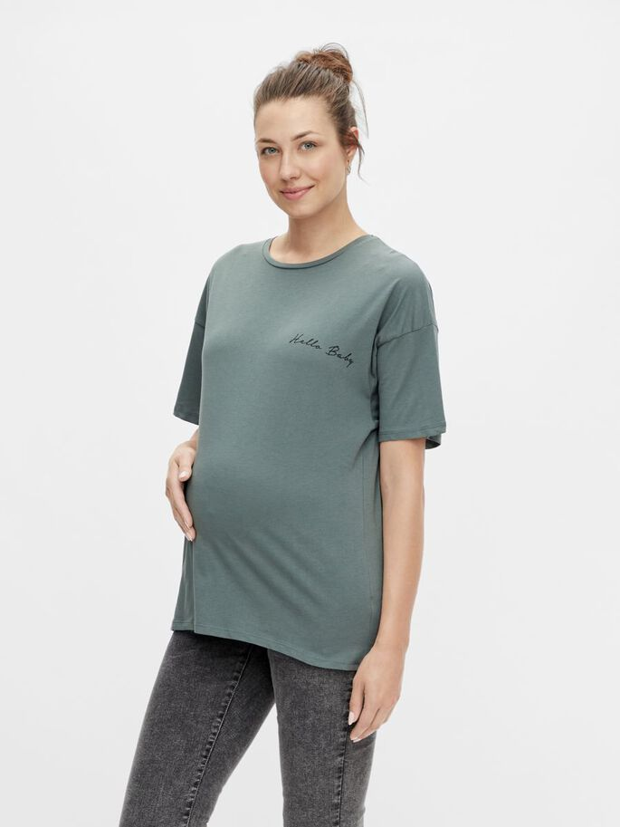 MLMARYLEE MATERNITY TOP, Balsam Green, large