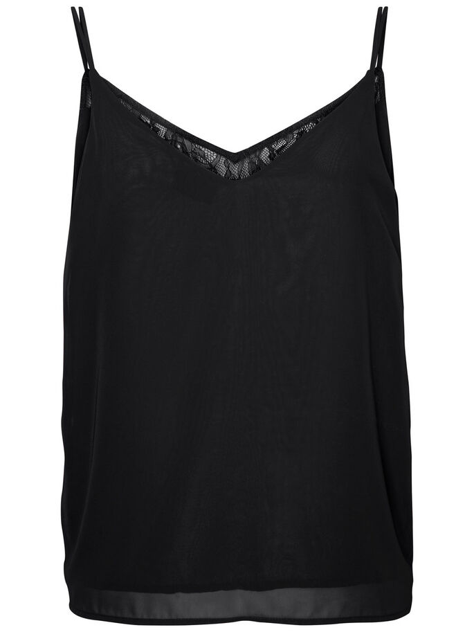 LACE SINGLET, Black Beauty, large