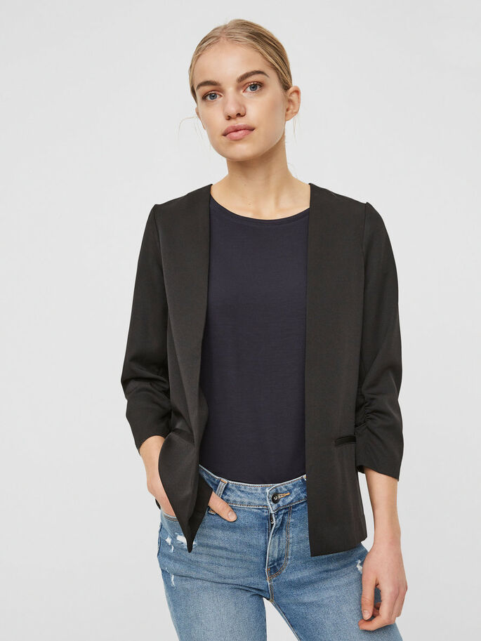 FEMININ BLAZER, Black, large