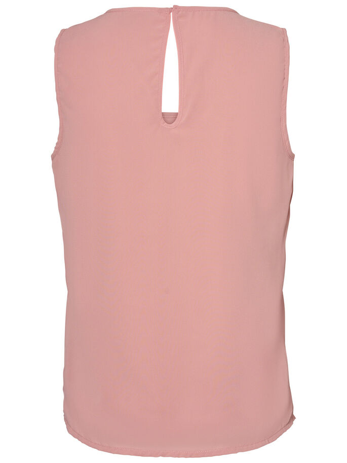 FEMININE SLEEVELESS TOP, Ash Rose, large