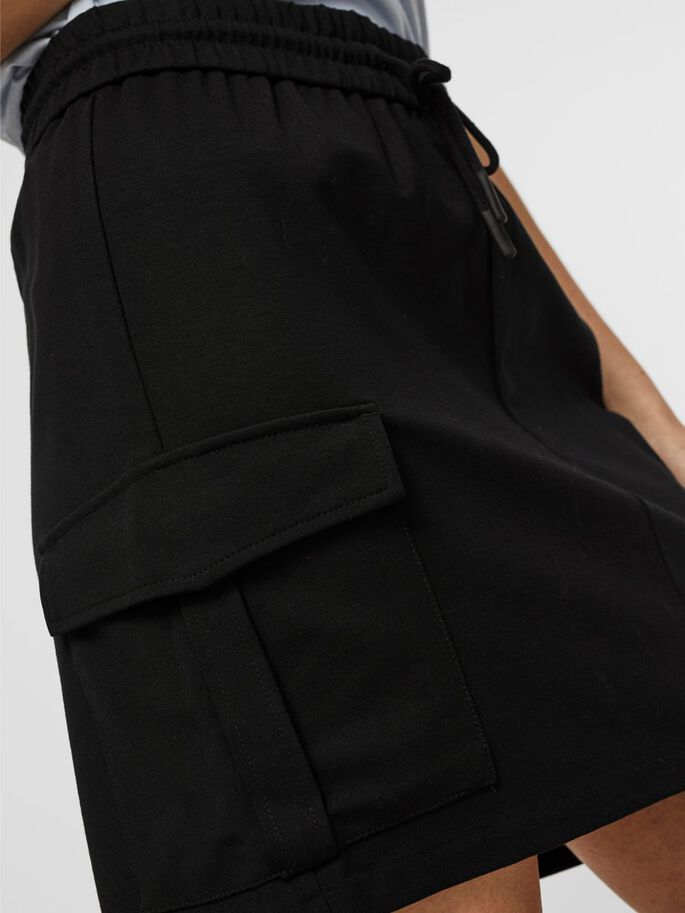 NORMAL WAIST CARGO MINI SKIRT, Black, large