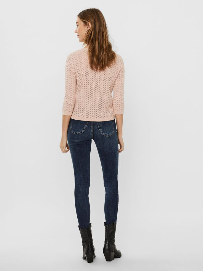 STRUTURE KNITTED CARDIGAN, Sepia Rose, large