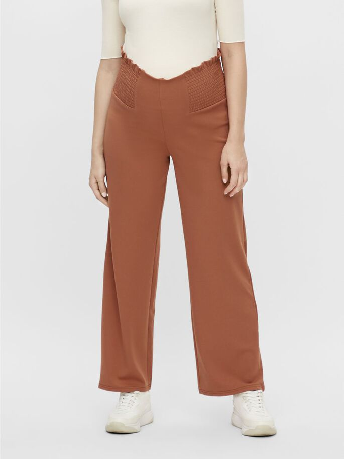 MLARLENE MATERNITY TROUSERS, Copper Brown, large