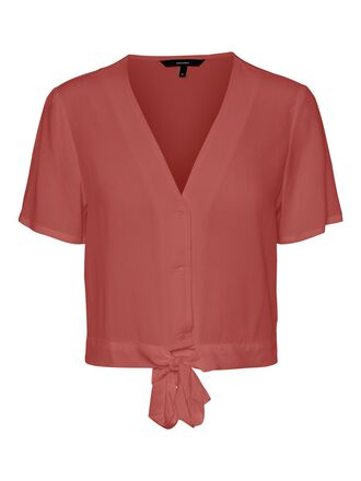 CROPPED TIE SHIRT
