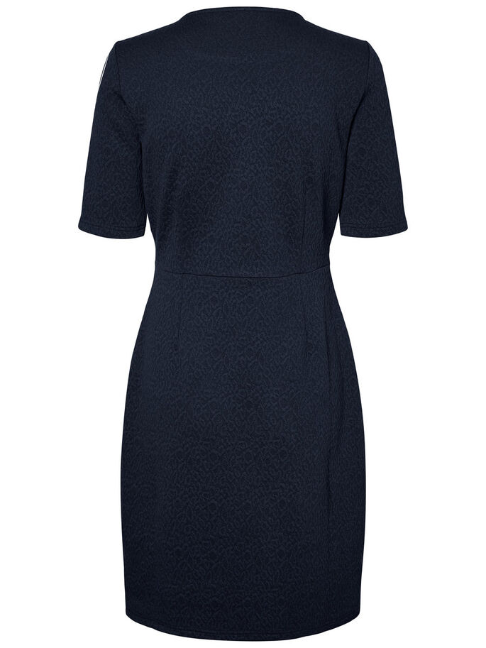 CASUAL SHORT SLEEVED DRESS, Navy Blazer, large