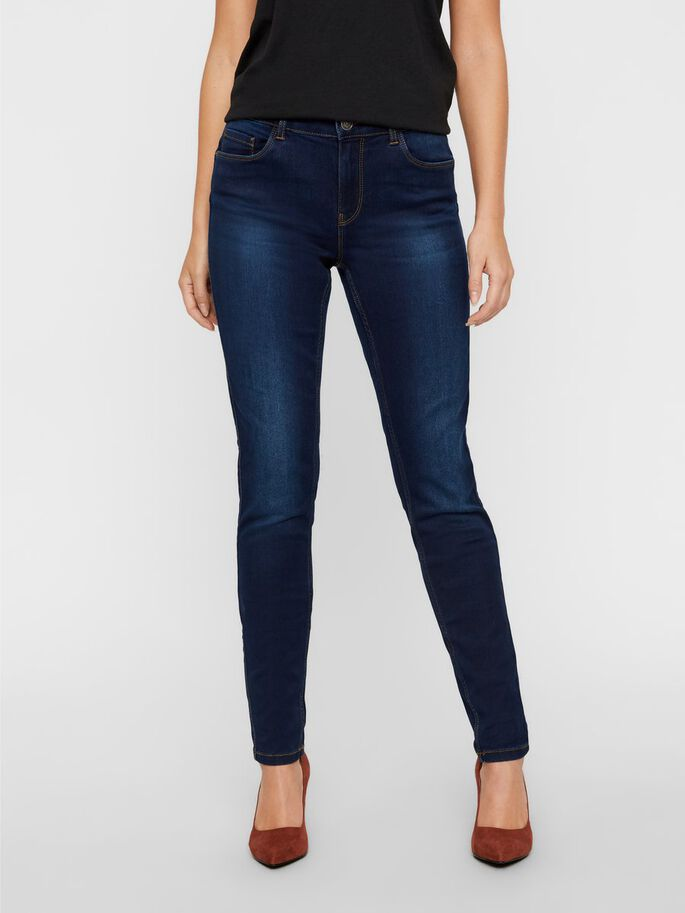 SEVEN NW SHAPE-UP SKINNY FIT JEANS, Dark Blue Denim, large
