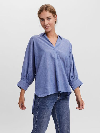 LOOSE FIT 3/4 SLEEVED SHIRT