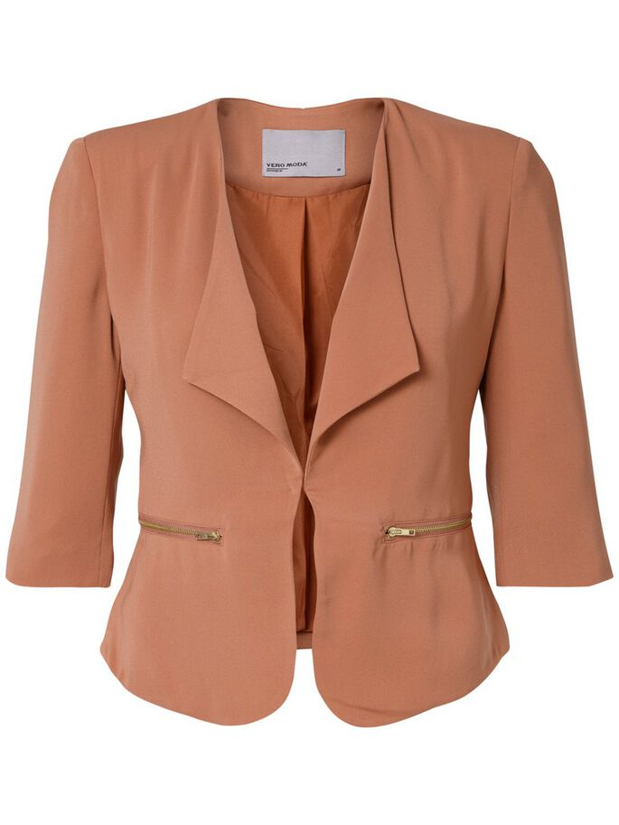 SHORT BLAZER, Cedar Wood, large