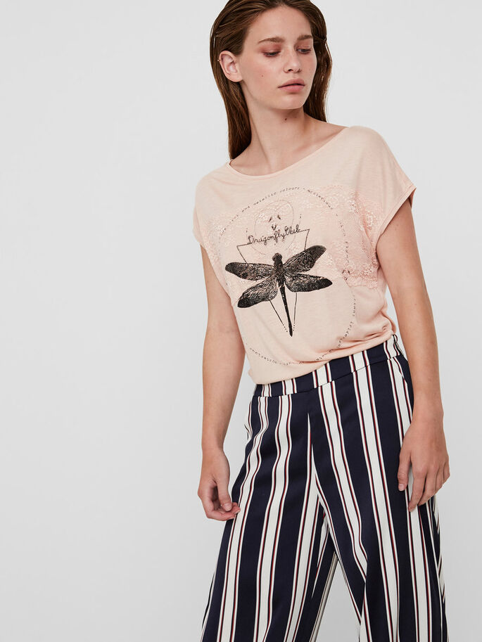 DRAGONFLY T-SHIRT, Rose Cloud, large