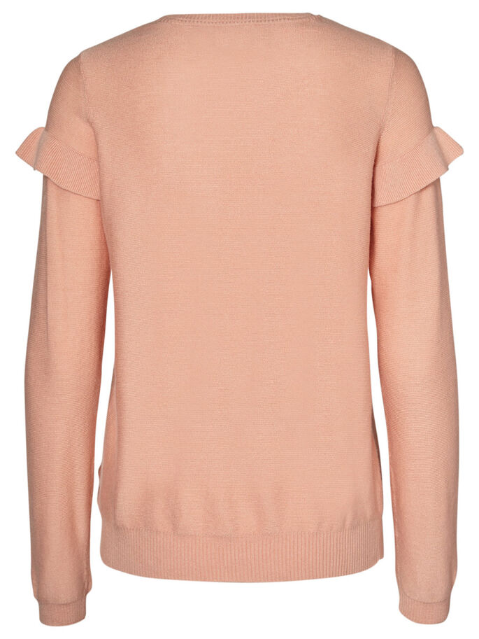 FLÆSE STRIKKET PULLOVER, Rose Cloud, large