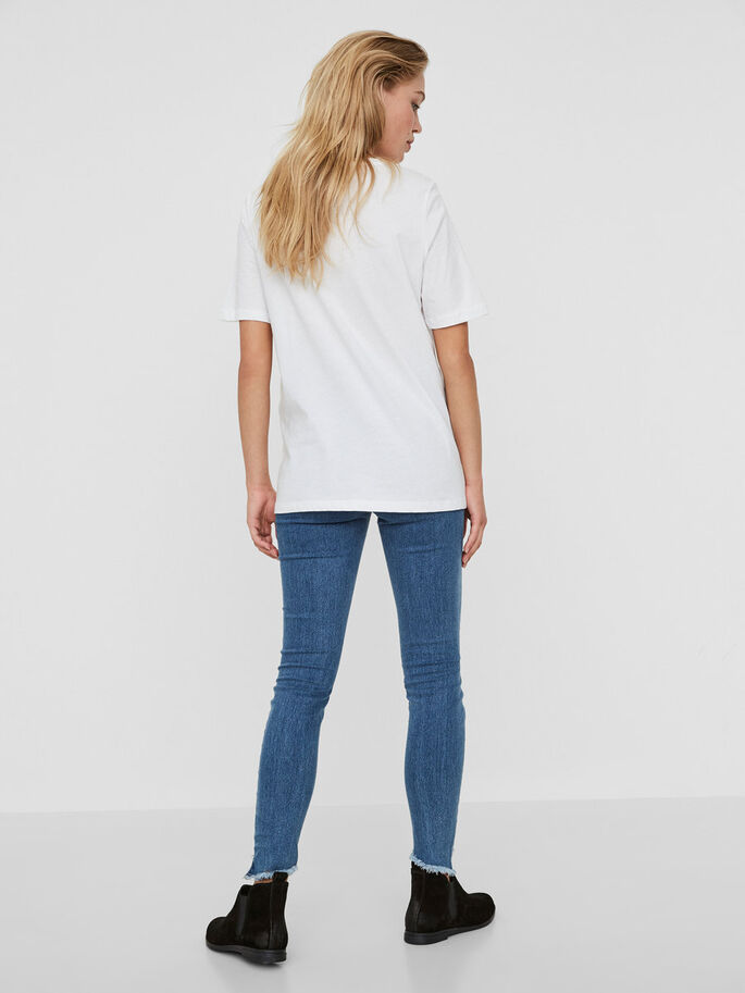 CASUAL T-SKJORTE, Bright White, large