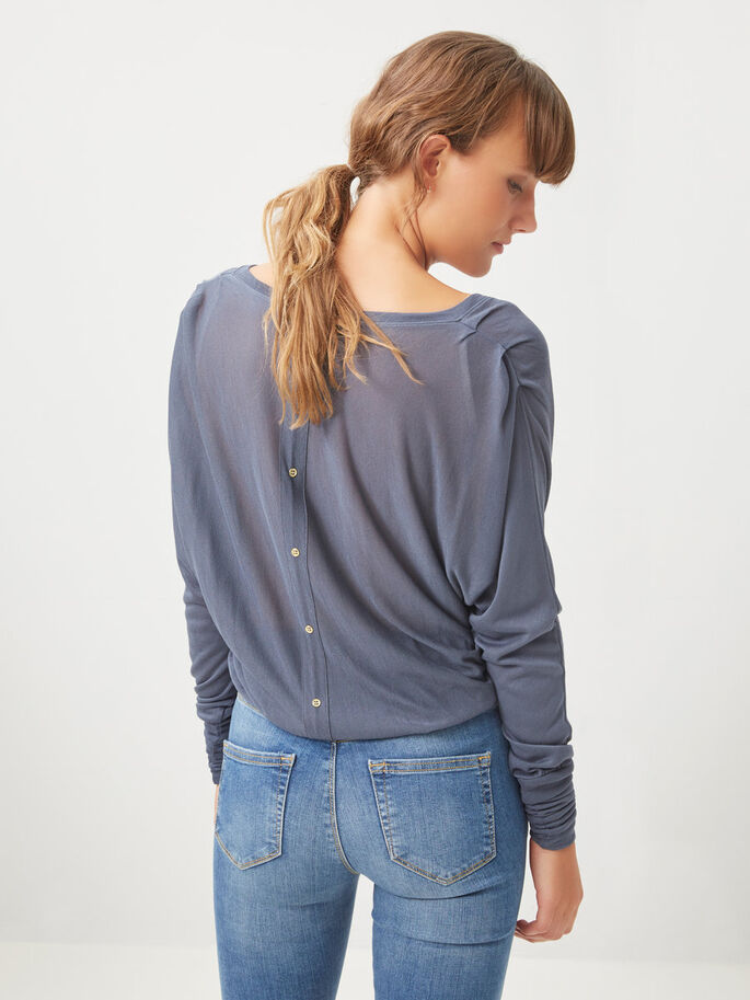 DETAILED LONG SLEEVED TOP, Ombre Blue, large