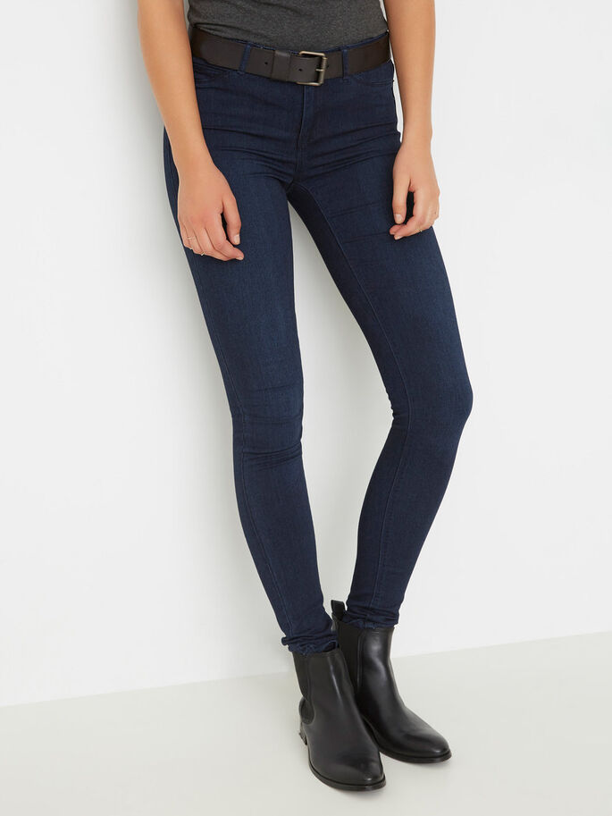 FLEX-IT NW JEGGINGS, Dark Blue Denim, large