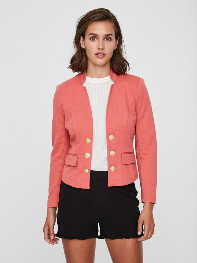FEMININE BLAZER, Faded Rose, large