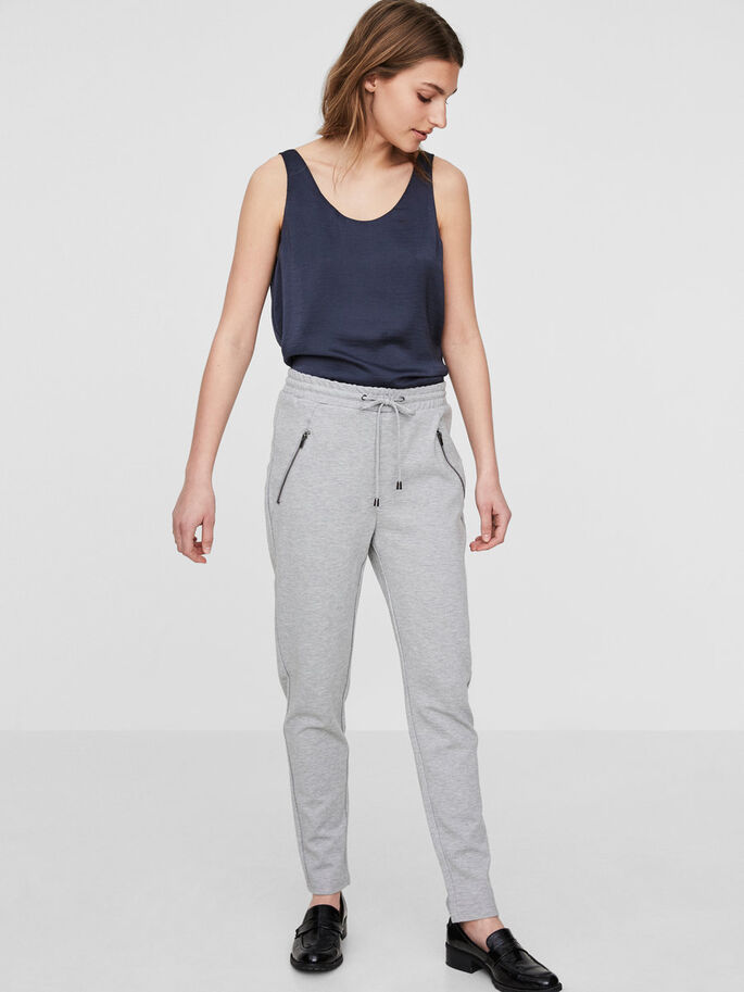 RORY LOOSE FIT TROUSERS, Light Grey Melange, large