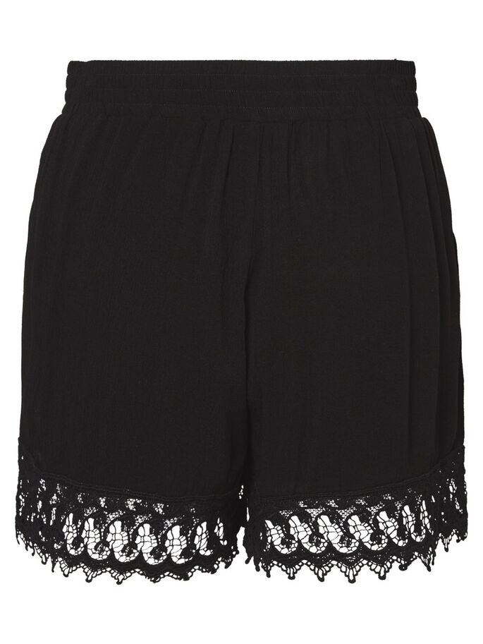 EMBROIDERED SHORTS, Black Beauty, large