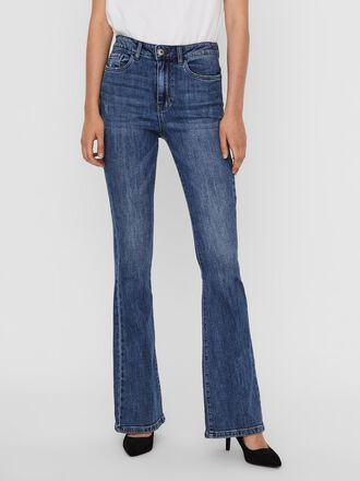 VMSIGA HIGH WAIST FLARED JEANS