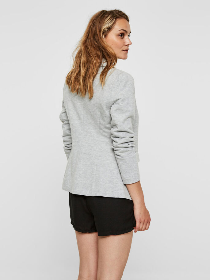 LONG BLAZER, Light Grey Melange, large