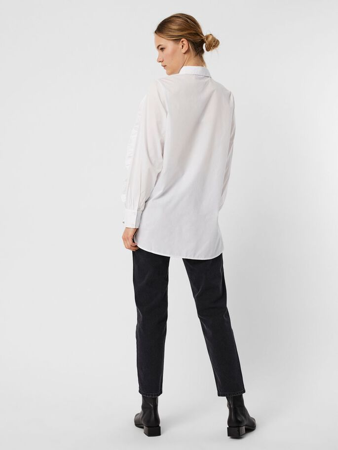 FRILL SHIRT, Bright White, large