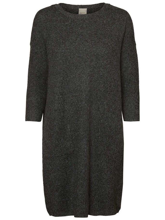 CASUAL KNITTED DRESS, Black Beauty, large
