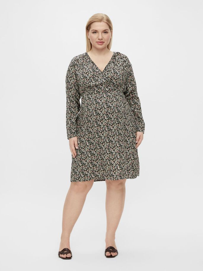 MLPHINA CURVE 2-IN-1 MATERNITY DRESS, Black, large