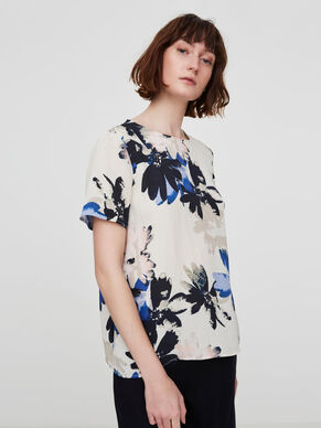 FLOWER PRINTED SHORT SLEEVED TOP
