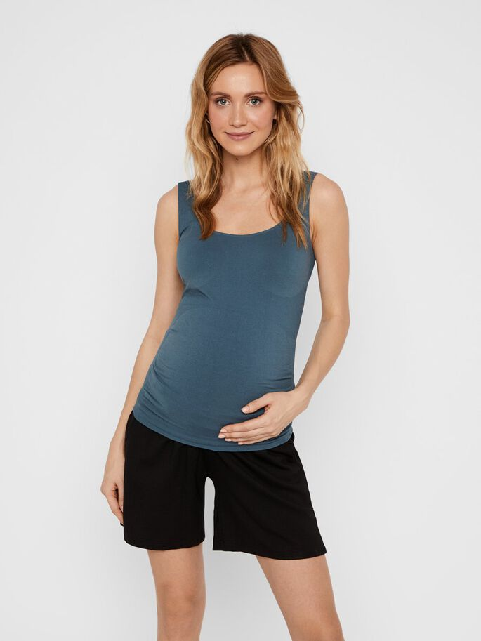 MLHEAL SEAMLESS MATERNITY TOP, Orion Blue, large