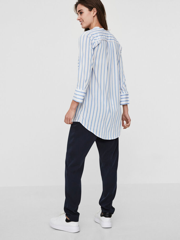 LONG STRIPED SHIRT, Snow White, large