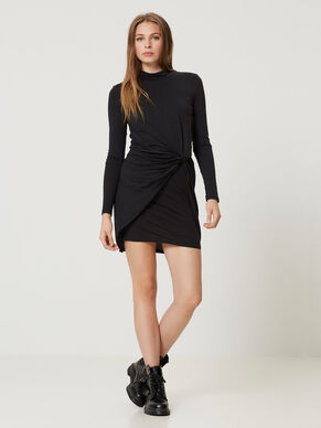 LONG SLEEVED SHORT DRESS