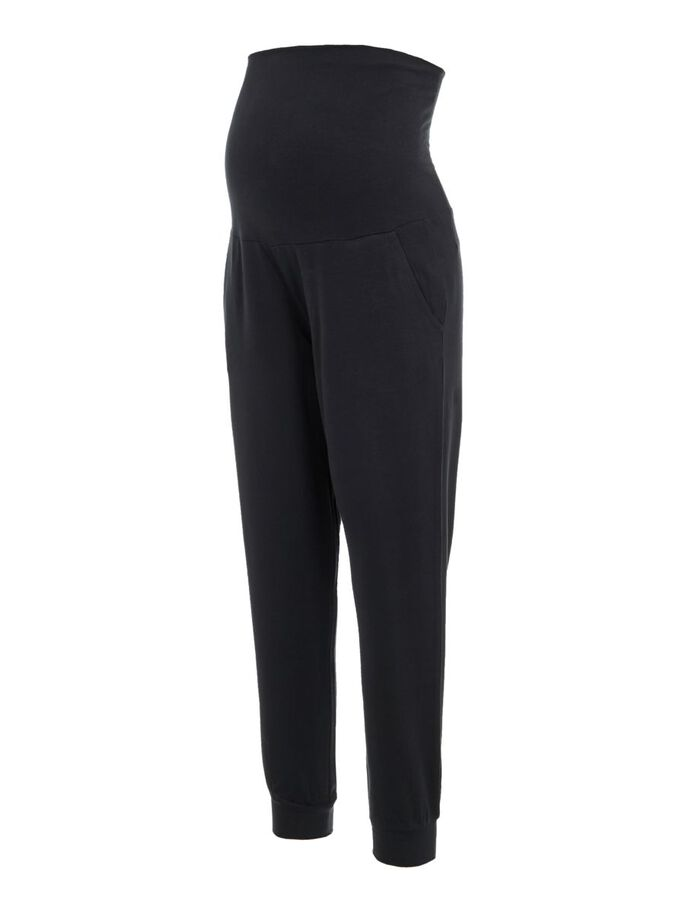 STRETCHABLE JERSEY MATERNITY TROUSERS, Black, large