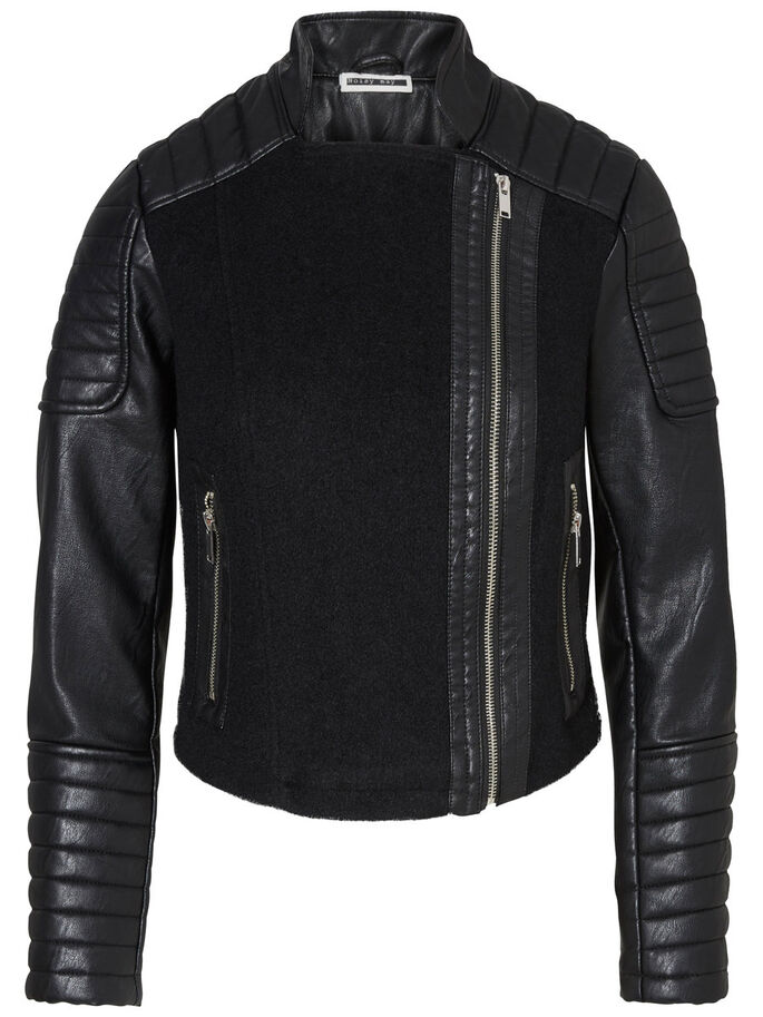 COURTE VESTE, Black, large