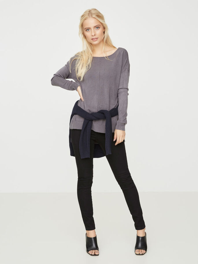 CASUAL STRIKKET PULLOVER, Ombre Blue, large