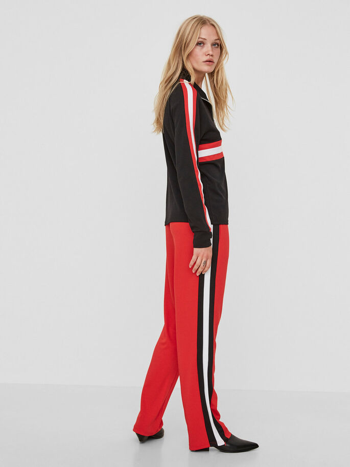 SPORTY SWEAT PANTS, Flame Scarlet, large