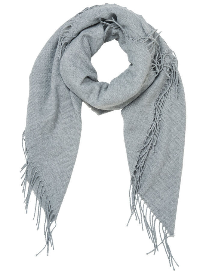 SQUARE SCARF, Light Grey Melange, large