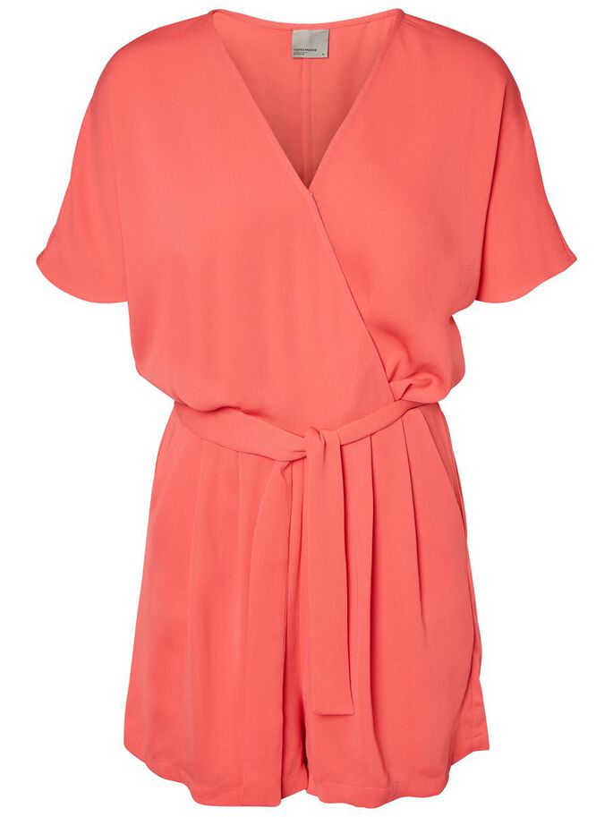 SHORT SLEEVED PLAYSUIT, Hibiscus, large