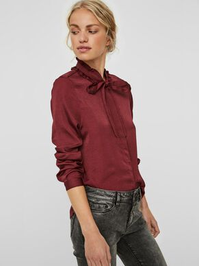SATIN LONG SLEEVED SHIRT
