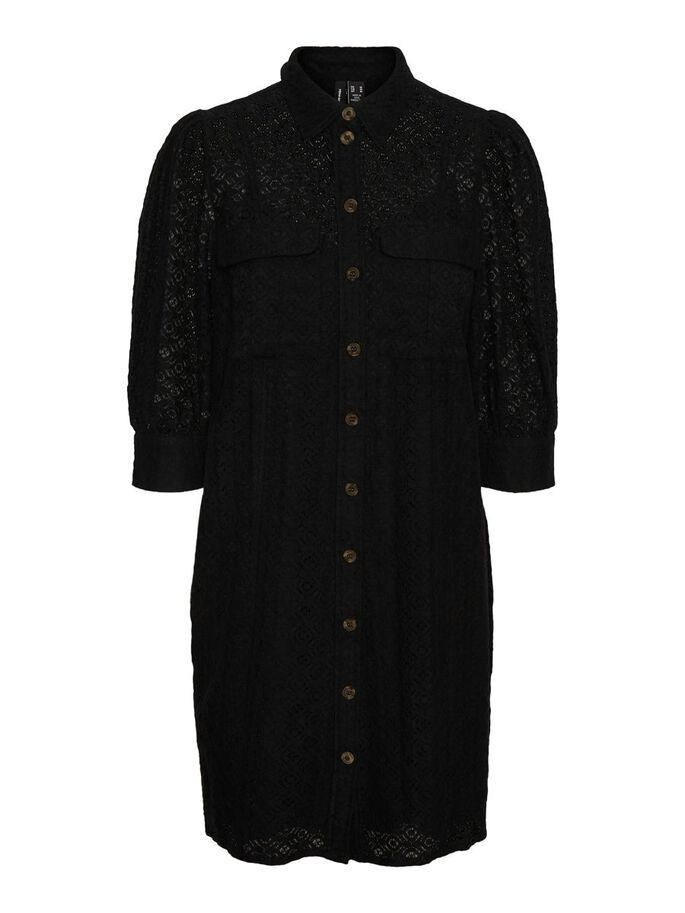 DENTELLE MINI-ROBE, Black, large