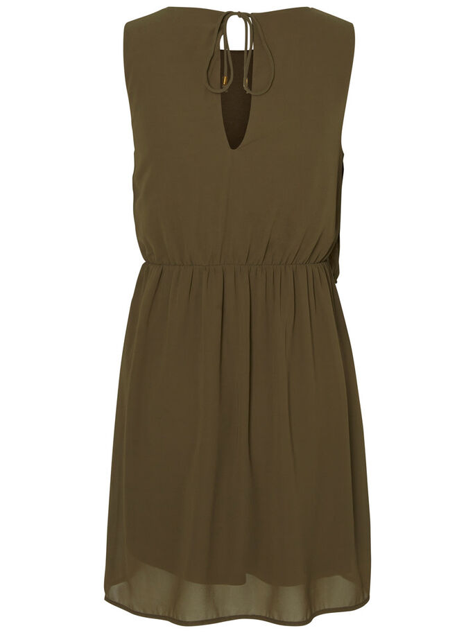 FEMININE SLEEVELESS DRESS, Ivy Green, large