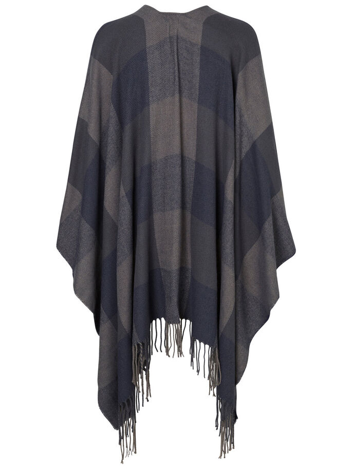 KNITTED PONCHO, Total Eclipse, large