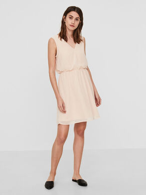 FEMININE SLEEVELESS DRESS