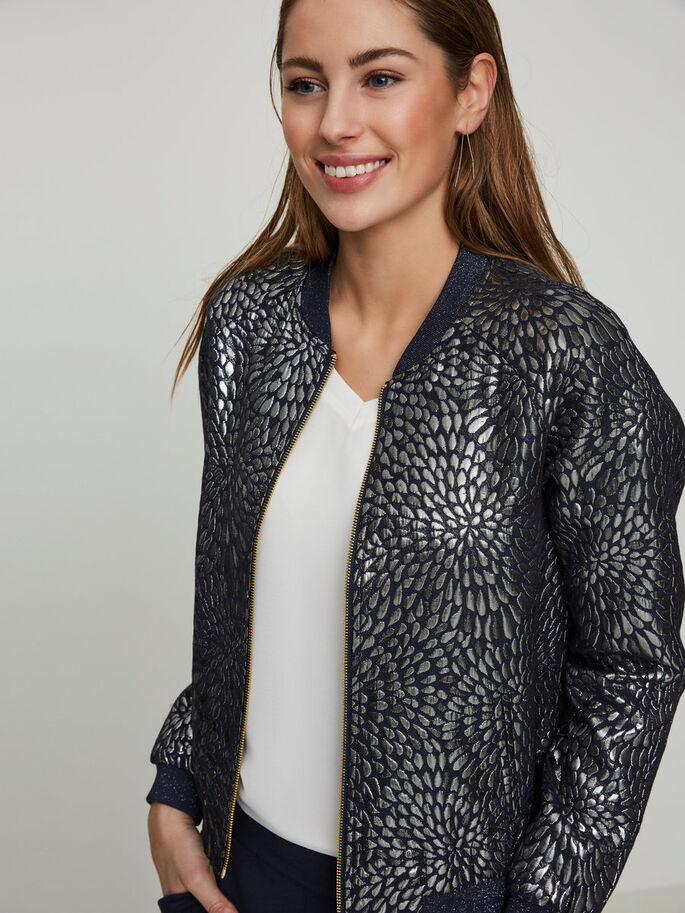 BOMBER JACKET, Navy Blazer, large