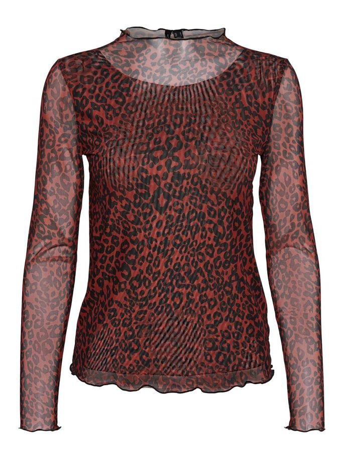 PRINTED BLOUSE, Chili Oil, large