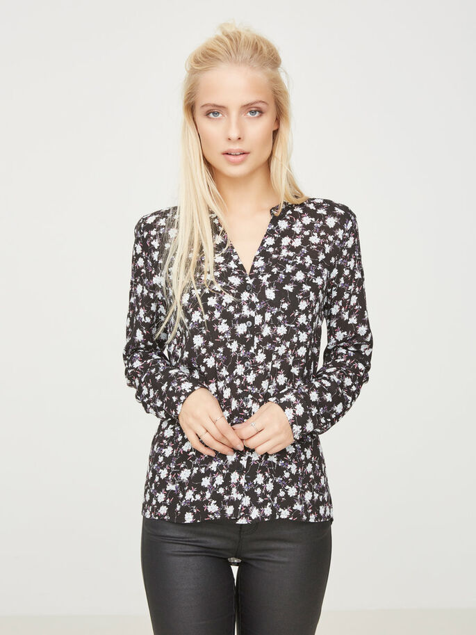 PRINTED SHIRT, Black, large