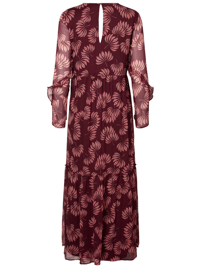 LONG SLEEVED MAXI DRESS, Zinfandel, large