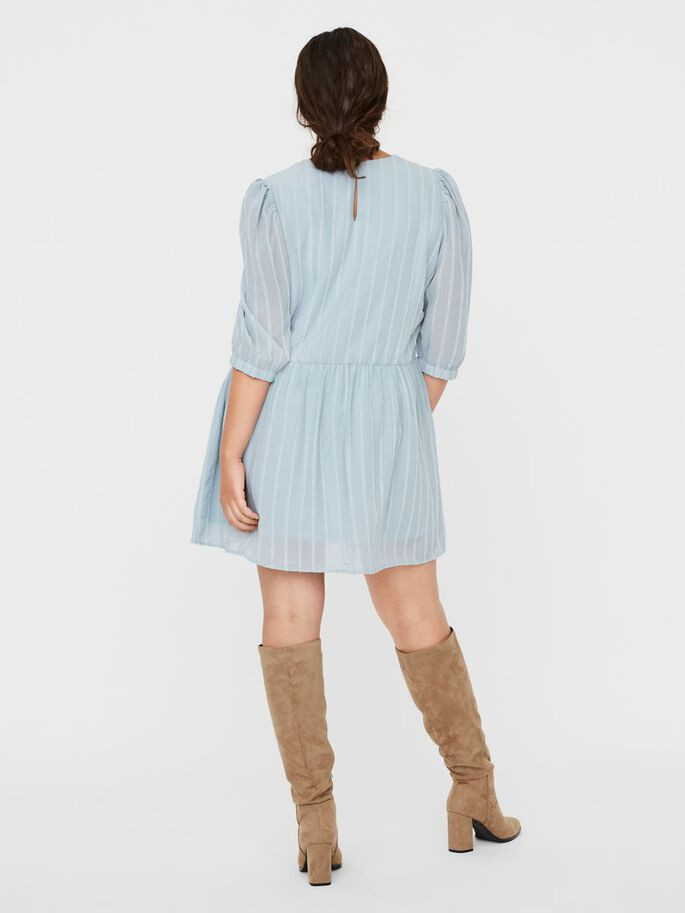 SHORT SLEEVED MINI DRESS, Blue Fog, large