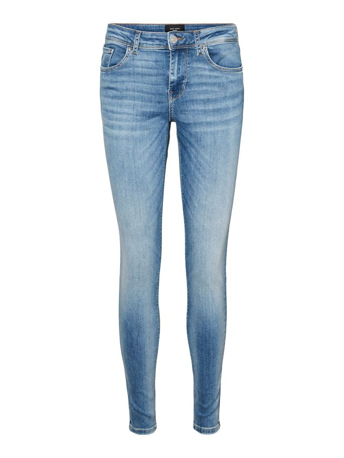 VMLUX NORMAL WAIST SLIM FIT JEANS, Light Blue Denim, large