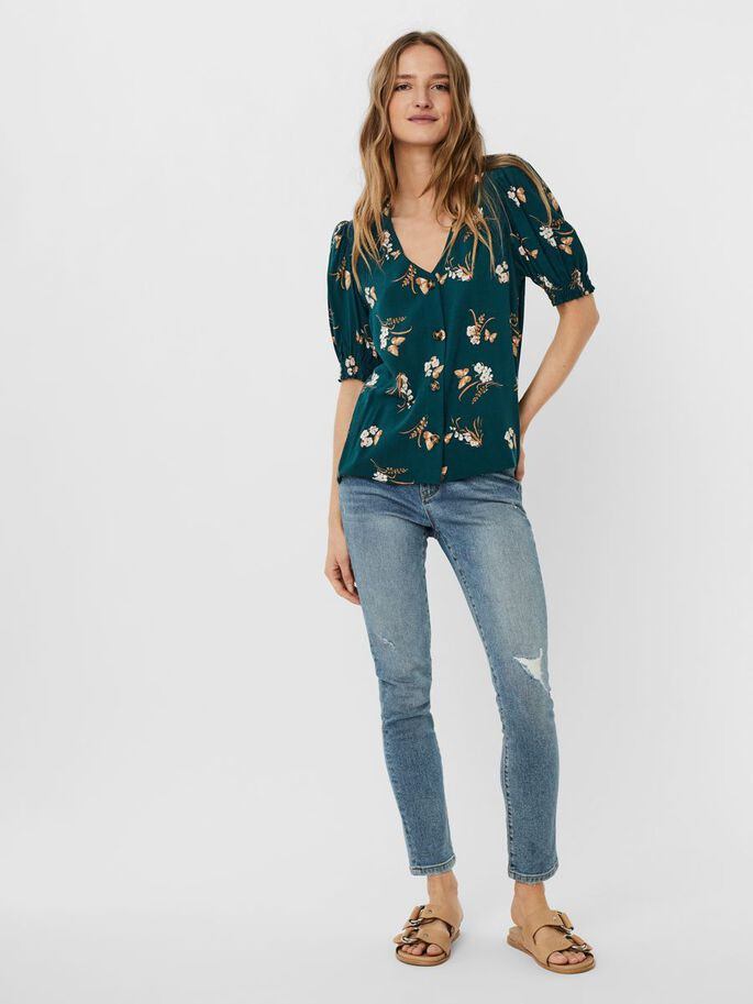 BUTTON TOP, Sea Moss, large